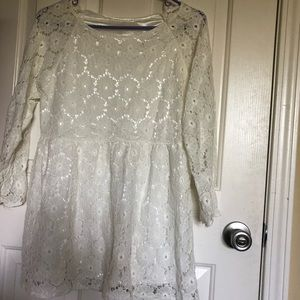 Other - Kids white shirt with floral lace